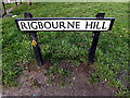 TM4289 : Rigbourne Hill sign by Adrian Cable
