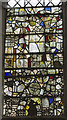 TQ6852 : Medieval Stained glass window, St Mary's church, Nettlestead by J.Hannan-Briggs