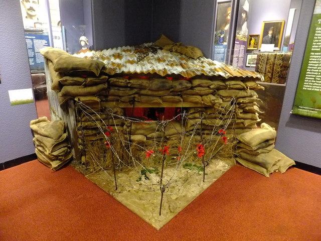 Machine gun emplacement at Ypres Salient from First World War