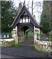 NZ1685 : Lych gate to Mitford Church by Russel Wills