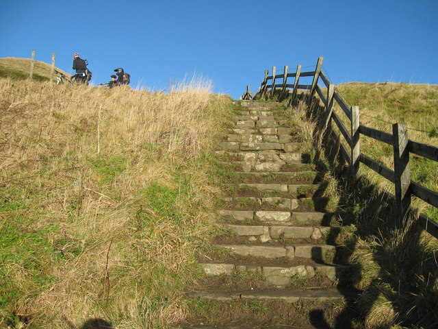 Steps on the way to the top-Mam Tor, Castleton, Derbyshire