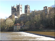 NZ2742 : Durham Cathedral and the River Wear by Les Hull