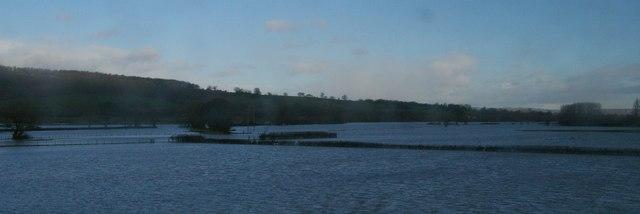 Flooding, Severn valley downstream of Welshpool, February 2014