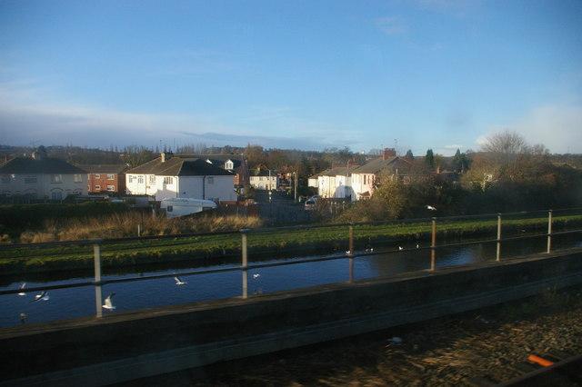 Bath Road, Tipton, from the railway
