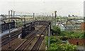 SE5703 : Doncaster ECML: northward from Frenchgate Bridge, 1992 by Ben Brooksbank