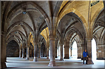 NS5666 : Glasgow University undercroft by Thomas Nugent