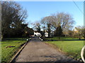 SP9624 : The long drive to the Five Bells Pub, Stanbridge by Bikeboy