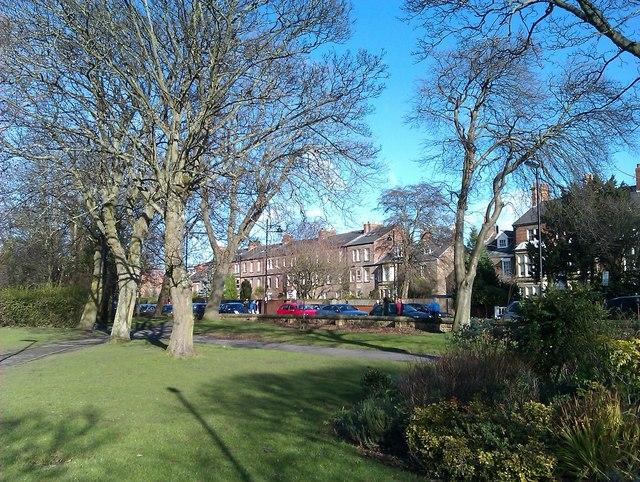 Gardens beside Brandling Park