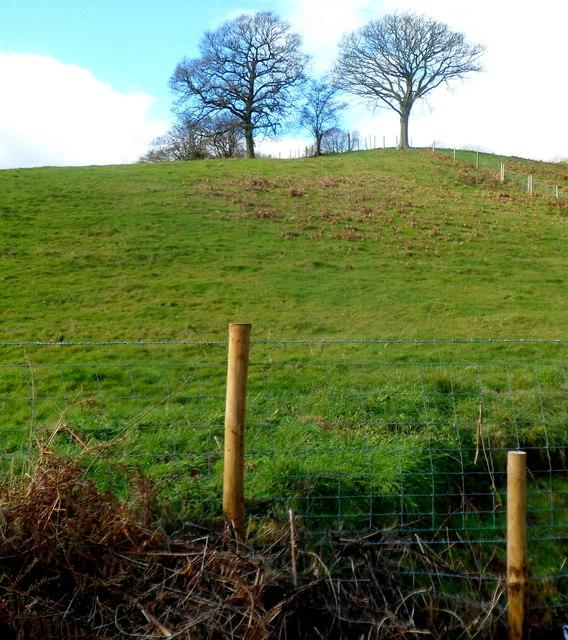 Westward from the far end of Well Lane, Llanvair Discoed
