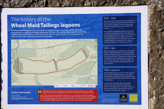 Sign Wheal Maid tailings Lagoon