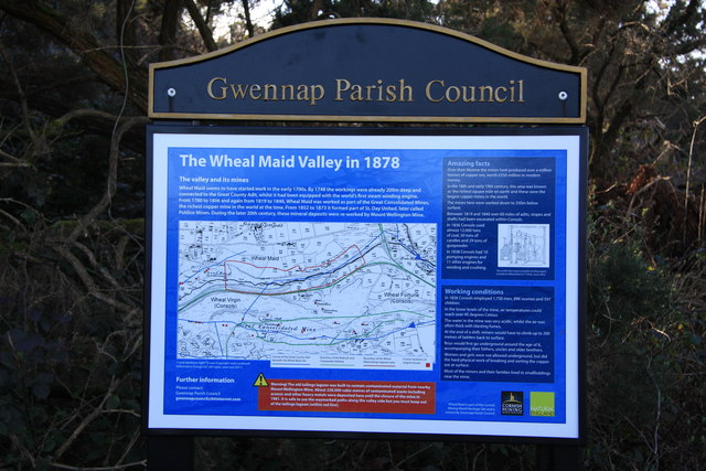 Sign The Wheal Maid Valley in 1878