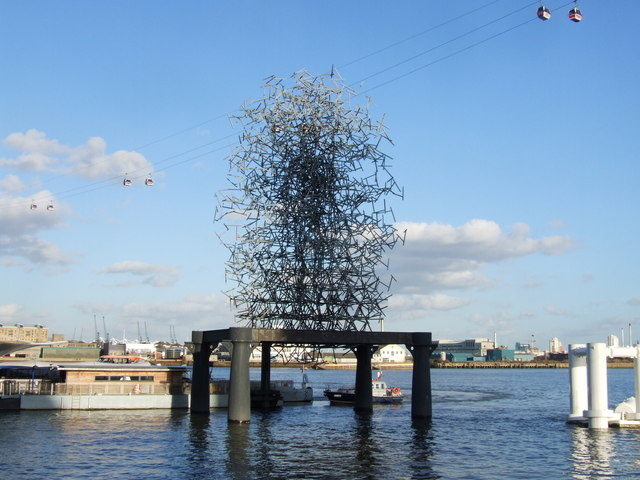 Quantum Cloud by Antony Gormley, Greenwich Peninsula
