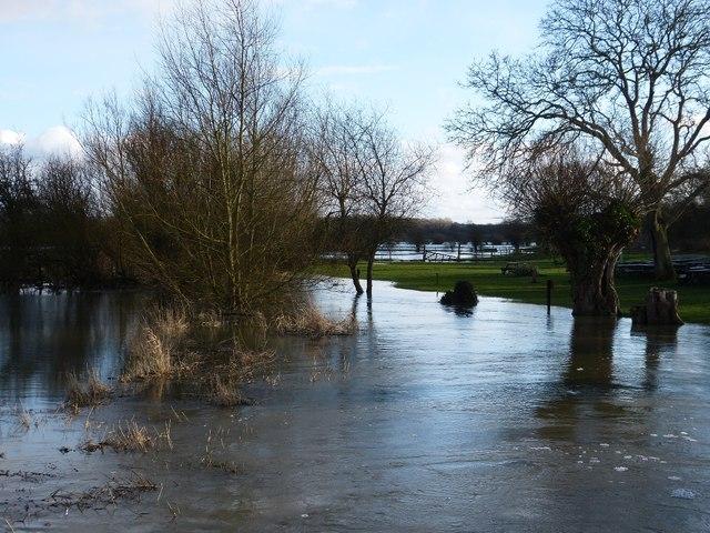 Flooded River Thame at Shabbington