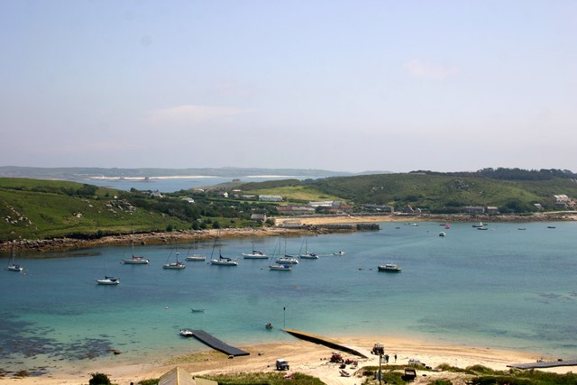 New Grimsby Sound Moorings, from Bryher