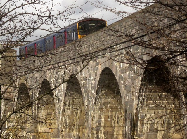 Train crossing Tavy Bridge