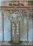 SP7006 : County boundary marker by Rob Farrow