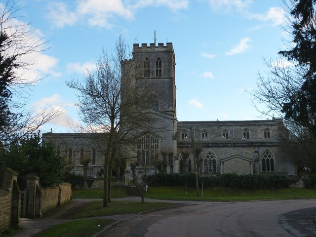 Church of St Mary from old Thame Road