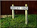 TM4289 : Waveney Road sign by Geographer
