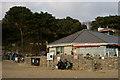 SZ0790 : Café at Alum Chine, Dorset by Peter Trimming