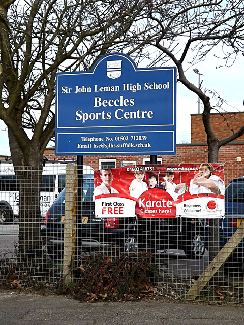 Beccles Sports Centre sign
