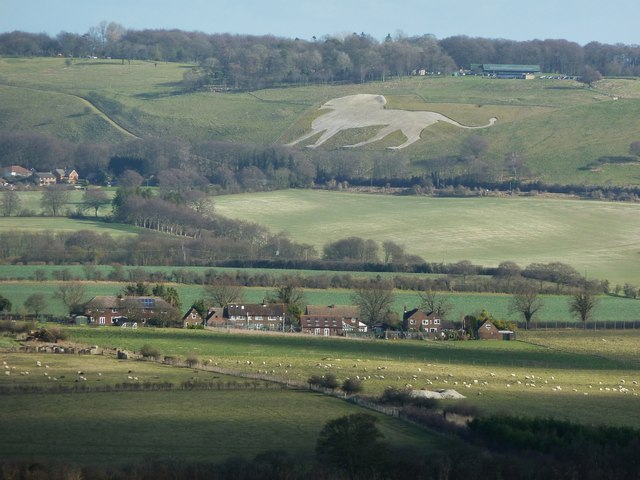 Whipsnade White Lion taken from Gallows Hill