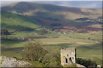SK1482 : Peveril Castle and Mam Tor by Peter Barr