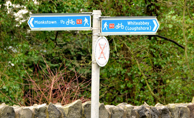 National Cycle Network signs, Whiteabbey