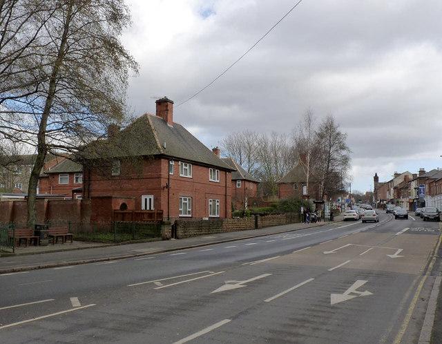 Council houses on Ilkeston Road