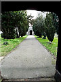 TM4489 : All Saints Church entrance path by Adrian Cable