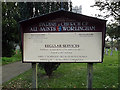 TM4489 : All Saints Church Sign by Adrian Cable