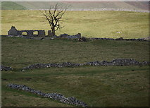 SK1482 : Ruined barn, near Cow Low by Peter Barr