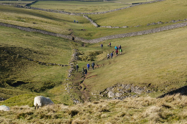 A group of walkers on the hills near Castleton