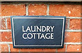 TM4489 : Laundry Cottage sign by Adrian Cable
