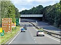 TL8565 : A14, Railbridge and Junction 43 (Bury St Edmunds) by David Dixon