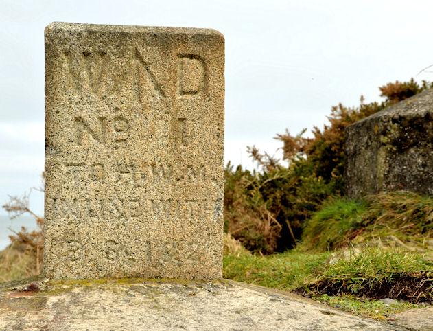 Former War Department (WD) marker stone, Grey Point, Helen's Bay
