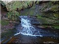 NS4079 : Small waterfall on the Pappert Burn by Lairich Rig