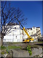 SH7882 : Roof repairs at Tudno Castle Hotel by Richard Hoare