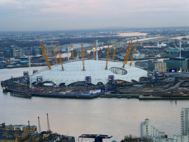 "O2 Arena seen from ""The Attic"""