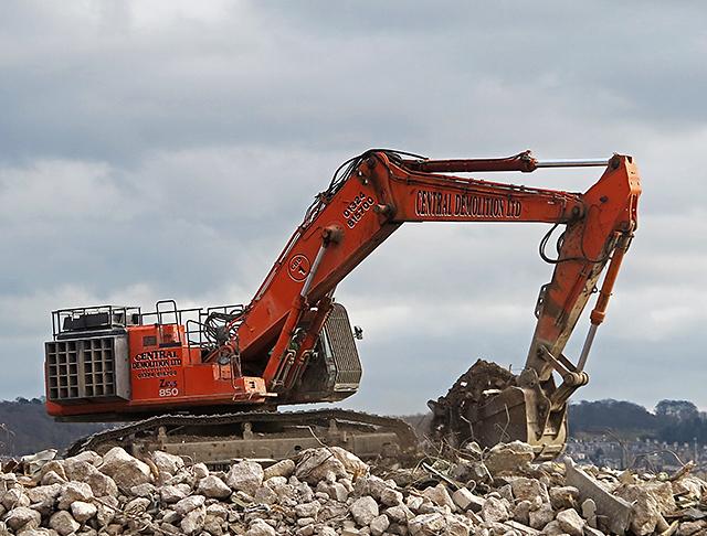 Demolition work at Dundee