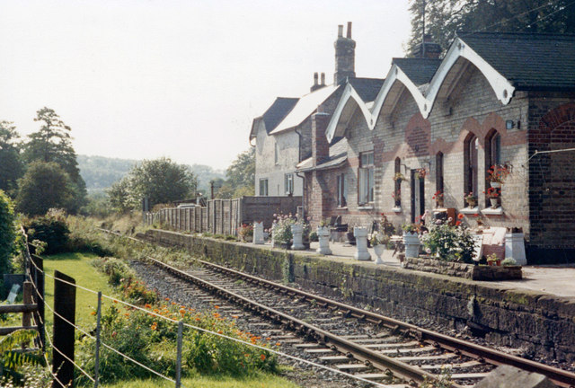 Coxbench station (remains), 1987