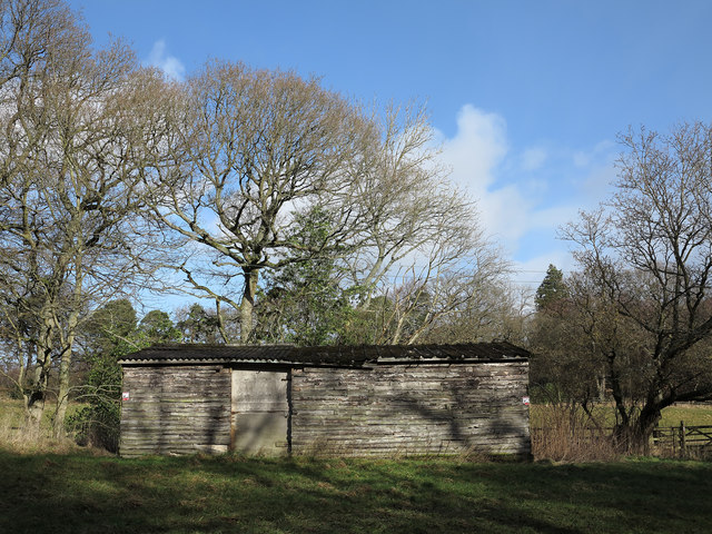 Wooden barn near Bedburn Hall