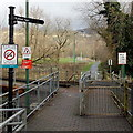 ST0399 : Notices near Fernhill level crossing by Jaggery