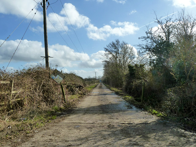 Road to sewage works
