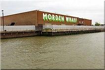 TQ3979 : Morden Wharf on the River Thames by Steve Daniels
