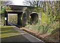 SX2561 : Landreast Bridge at St Keyne station on the Liskeard to Looe branch line by Roger A Smith