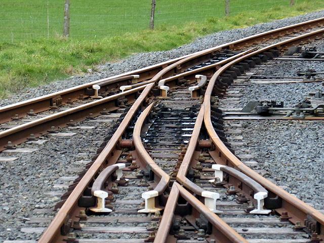 Trackwork at Capel Bangor, Vale of Rheidol Railway
