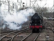 NY4055 : Steam locomotive Scots Guardsman approaching Carlisle by William Starkey