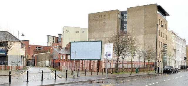 Development site, College Square North, Belfast (February 2014)
