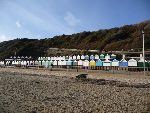 Boscombe: Manor Zig-Zag and two rows of beach huts