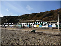 SZ1191 : Boscombe: Manor Zig-Zag and two rows of beach huts by Chris Downer